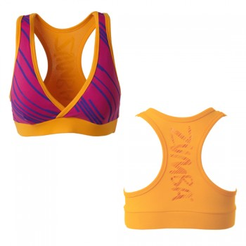 Zumba® - Fast Dash V-Bra Top - Pomegranate [Extra Small]