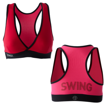 Zumba® - Shout Out V-Bra - Candy Apple [Extra Small] Final Sale