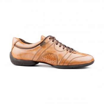 PortDance - Men´s Sneakers PD Casual - Leather Camel/Brown