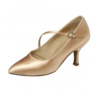 Supadance - Ladies Dance Shoes 1004 - Flesh Satin