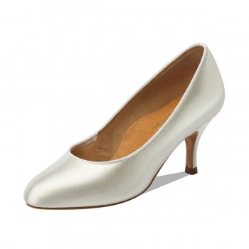 "Supadance - Ladies Dance Shoes 1017 - White Satin - Regular - 2,5"" Ballroom [UK 4,5]"