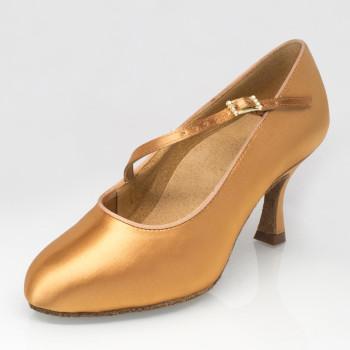 "Ray Rose - Ladies Dance Shoes 117 Stratus - Flesh Satin - Medium - 2"" Flare [UK 5,5]"