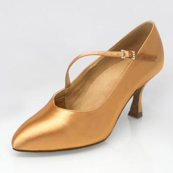 Ray Rose - Ladies Dance Shoes 119 Nimbus - Tan Satin
