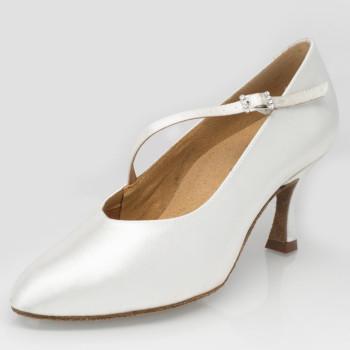 "Ray Rose - Mujeres Zapatos de Baile 119 - Satén Blanco - 2"" Flare [UK 7]"