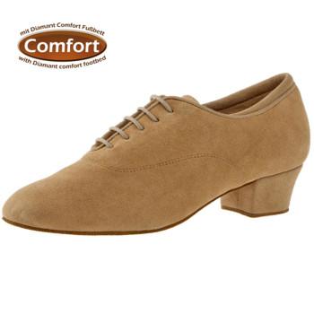 Diamant - Mujeres Zapatos de Práctica 140-034-337-A - Microfibra Beige - 3,7 cm Cuban [UK 2,5]