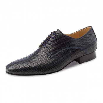 Werner Kern - Men´s Dance Shoes 28043 - Leather Grattato Blu