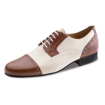 Werner Kern - Men´s Dance Shoes 28051 - Leather Brown/Creme