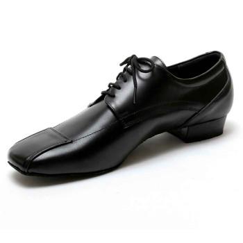 Dancelife - Hombres Zapatos de Baile 53201 - Cuero Negro