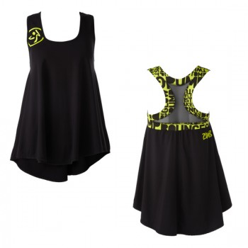 Zumba® - Shout out Mesh Top - Negro [Extra Small] Final Sale - No return