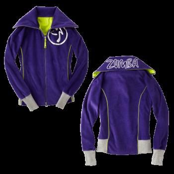 Zumba® - Zweety Velour Track Jacket - Indigo [Extra Small] Final Sale - No returns