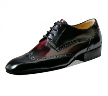 Nueva Epoca - Men´s Dance Shoes Belgrano - Black Leather/Red