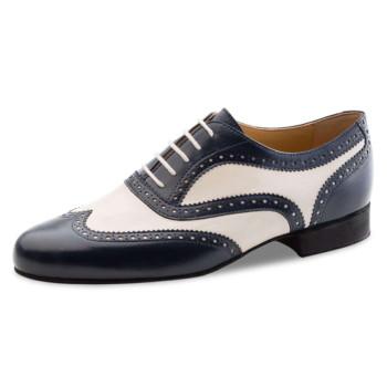 Nueva Epoca - Men´s Dance Shoes Lima - Leather Blue/Creme