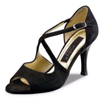 Nueva Epoca - Mujeres Zapatos de Baile Martha - Ante Negro