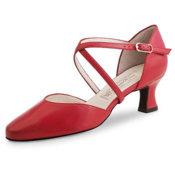 Werner Kern - Mujeres Zapatos de Baile Patty - Cuero Rojo