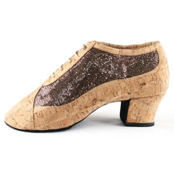 PortDance - Ladies Practice Shoes PD703 Fashion - Kork/Glitter - 4 cm Cuban [EUR 35]
