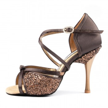 PortDance - Mujeres Zapatos de Baile PD801 Pro - Marrón