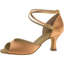 Diamant - Mujeres Zapatos de Baile 017-087-087 - Satèn Bronce