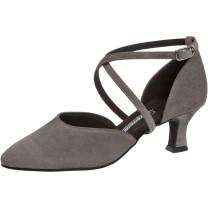 Diamant - Mujeres Zapatos de Baile 048-068-009 - Ante Gris