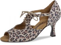 Diamant - Mujeres Zapatos de Baile 190-087-329-V - Ante Leopardo - VarioSpin