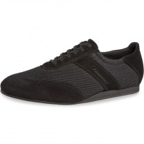 Diamant Herren Tanz Sneakers 192-425-577-V - Veloursleder Schwarz - VarioSpin