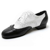 Dancelife - Men´s Dance Shoes 55292 - Leather Black/White