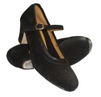 Intermezzo - Ladies/Girls Flamenco Shoes 7233 Basico Ante Hebilla