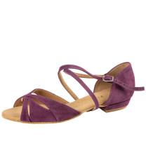 Rummos Mulheres Sapatos de Dança Lola - Nobuk Burgundy - 2 cm