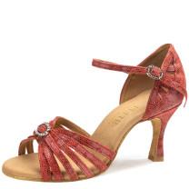 Rummos Mujeres Latino Zapatos de Baile Elite Karina 205 - Histrix Rojo - 6 cm