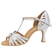 Rummos Mulheres Latino Sapatos de dança Elite Karina 069 - Silber Diva - 6 cm