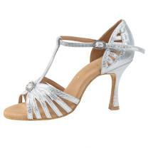 Rummos Ladies Latin Dance Shoes Elite Karina 069 - Diva Silber - 7 cm