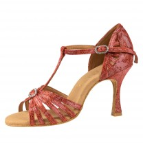 Rummos Ladies Latin Dance Shoes Elite Karina 205 - Leder Histrix Rot - 7 cm