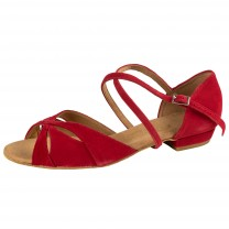 Rummos Mujeres Zapatos de Baile Lola - Nobuk Rojo - 2 cm