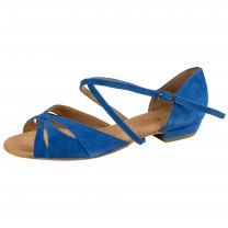 Rummos Mujeres Zapatos de Baile Lola - Nobuk Azul - 2 cm
