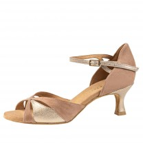 Rummos Ladies Dance Shoes R385 - Nubuck/Leder Beige/Opal - 5 cm