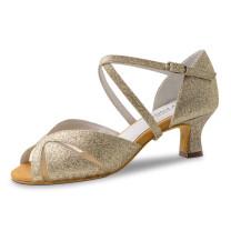 Anna Kern - Femmes Chaussures de Danse 620-50 - Brocart Or