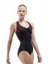 Ballet Rosa - Damen Ballett Trikot/Body/Leotard ANETTE rückenfrei mit Ärmeln kurz