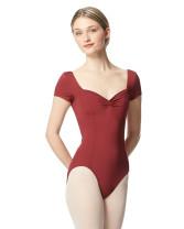 LULLI Dancewear Donne Balletto Calzamaglia/Body/Leotard ANFISA con maniche corte