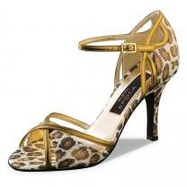 Nueva Epoca - Damen Tanzschuhe Marisol - Leder Leopard