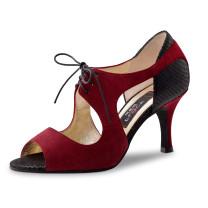 Nueva Epoca - Mujeres Zapatos de Baile Nesrin - Ante Rojo