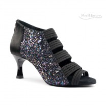 PortDance - Ladies Dance Shoes PD811 Pro - Black Satin