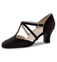 Werner Kern - Femmes Chaussures de Danse Merle - Suède Noir