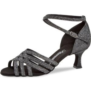 Diamant - Mulheres Sapatos de Dança 008-077-519 - Brocado Preto