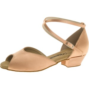 Diamant - Girls Dance Shoes 022-030-094 - Beige Satin