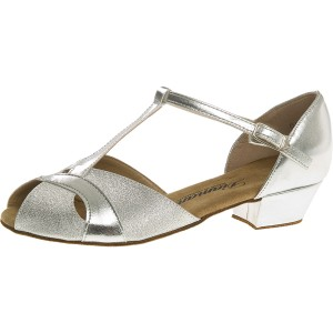 Diamant - Girls Dance Shoes 031-030-045 - Brocade Silver