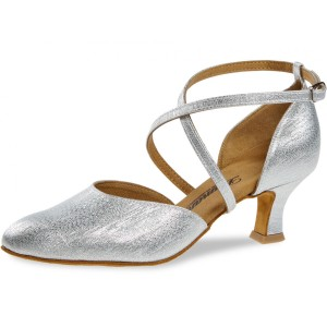 Diamant - Ladies Dance Shoes 048-068-002 - Silver Brocade