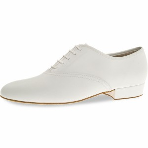 Diamant - Men´s Dance Shoes 078-075-033-A - White Leather