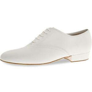 Diamant - Hommes Chaussures de Danse 078-075-033-A - Cuir Blanc
