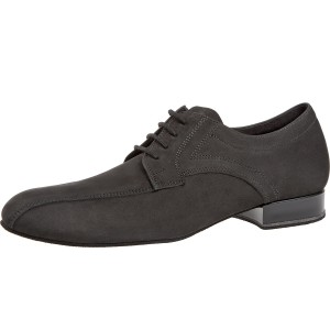 Diamant - Hombres Zapatos de Baile 094-025-448 - Nubuckleder Negro - 2 cm Standard [Ancho]