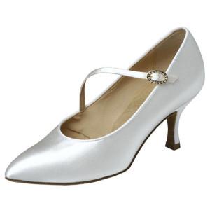 Supadance - Ladies Dance Shoes 1004 - White Satin