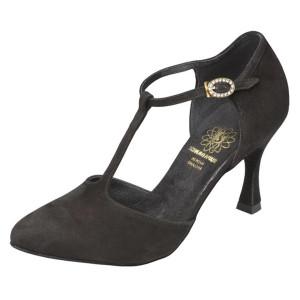 Supadance - Mulheres Sapatos de Dança 1039 - Camurça Preto
